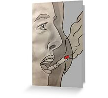 Cigarette on your lips Greeting Card