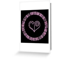 Crest of Love Greeting Card