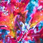 Sweeping bold abstract oak leaves by Jo-Anne Gazo-McKim