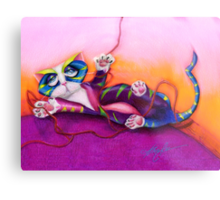 Kitty and the Bow Metal Print