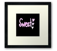 Typography Sweet Framed Print