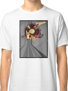 Rock Music Vinyl Record Collage 1 Classic T-Shirt