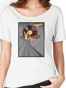 Rock Music Vinyl Record Collage 1 Women's Relaxed Fit T-Shirt