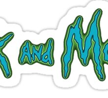 Rick and Morty Title Sticker