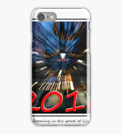 Zooming in the speed of life! iPhone Case/Skin