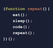 Function { Eat Sleep Code Repeat }  One Piece - Short Sleeve