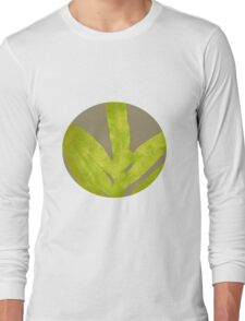 Lime Yellow Fern Long Sleeve T-Shirt