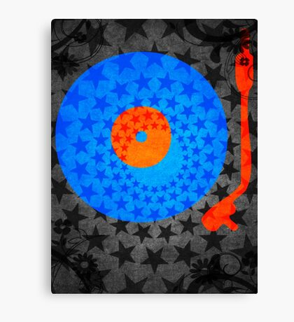 Vinyl Record Stars Canvas Print