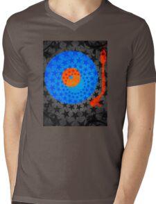 Vinyl Record Stars Mens V-Neck T-Shirt