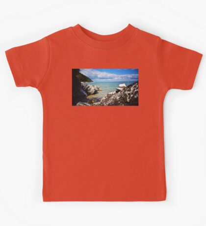 Rocks Stacked at Lake Michigan Kids Tee
