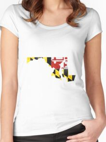 Maryland Women's Fitted Scoop T-Shirt