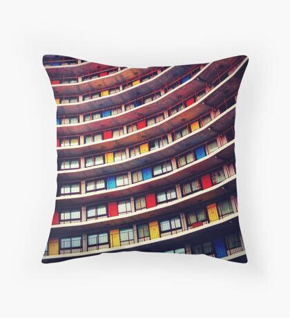 Primary Wave Throw Pillow