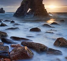 Breeches Sea Arch Sunset by Derek Smyth