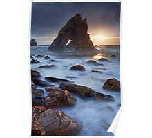 Breeches Sea Arch Sunset Poster