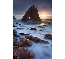 Breeches Sea Arch Sunset Photographic Print