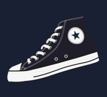 All Star Inspired Hi Top Retro Sneaker in Navy Blue Kids Clothes
