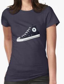 All Star Inspired Hi Top Retro Sneaker in Navy Blue Womens Fitted T-Shirt