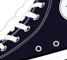 All Star Inspired Hi Top Retro Sneaker in Navy Blue Sticker
