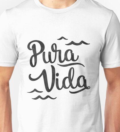 Pura Vida Waves in Black Unisex T-Shirt