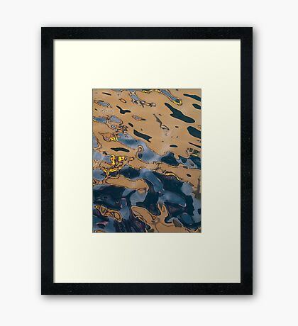 Oil Rig Water Reflection Framed Print