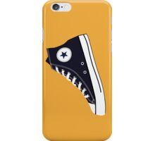 All Star Inspired Hi Top Retro Sneaker in Navy Blue iPhone Case/Skin