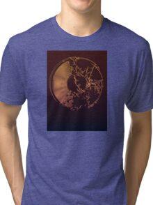Vinyl Record Gold Explosion Tri-blend T-Shirt