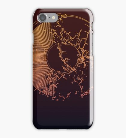 Vinyl Record Gold Explosion iPhone Case/Skin
