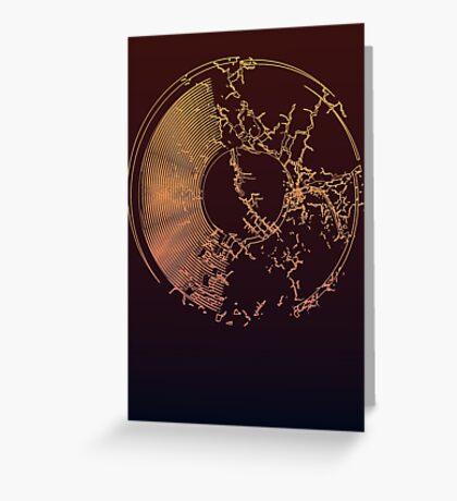 Vinyl Record Gold Explosion Greeting Card