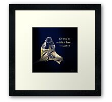 Holy Mother and Child Abstract Framed Print