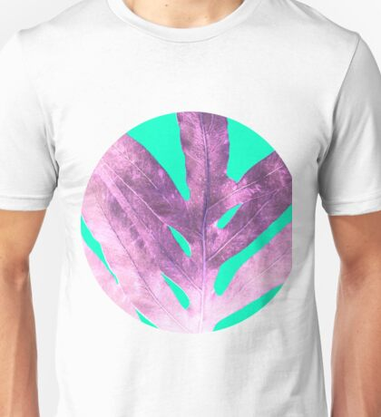 Lavender Fern on Mint Green Winter Wonderland Unisex T-Shirt