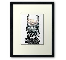 Happy Buddha | Whirlpool Galaxy [Enlightened Version] Framed Print