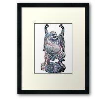 Happy Buddha | Whirlpool Galaxy [V3] Framed Print