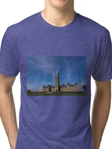 Center Block of the Canadian government - Ottawa, Ontario Tri-blend T-Shirt