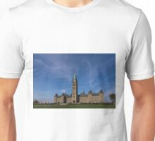 Center Block of the Canadian government - Ottawa, Ontario Unisex T-Shirt