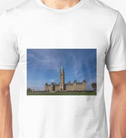 Center Block of the Canadian government - Ottawa, Ontario Unisex T-Shirt