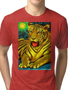 Tiger Royal Tri-blend T-Shirt