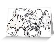 Charcoal Dragon Greeting Card