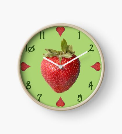 Fresh Strawberry Clock