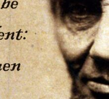 Equality Abraham Lincoln Sticker