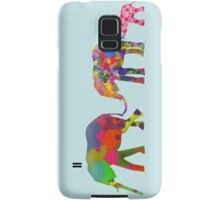 3 Colorful Elephants Holding Tails - Pop Art Samsung Galaxy Case/Skin
