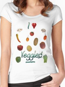 I Heart Veggies! Women's Fitted Scoop T-Shirt