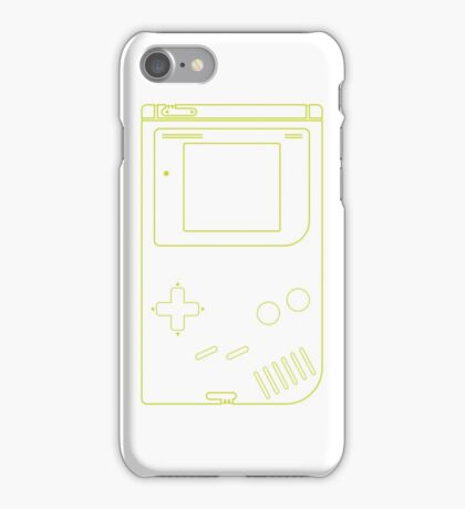 Single Gameboy Outlines (white) iPhone Case/Skin
