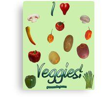 I Heart Veggies! Canvas Print