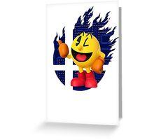 Smash Pac-Man Greeting Card