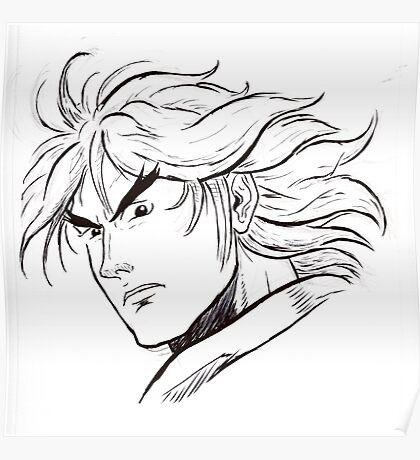 Street Fighter II Portraits - Ken Poster