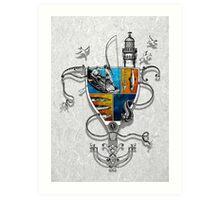 Fishing (white version) Art Print
