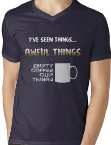 Empty coffee cup things Mens V-Neck T-Shirt