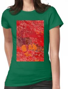 Red Tin Landscape Womens Fitted T-Shirt