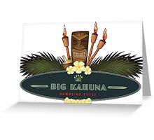 Big Kahuna with Tiki Greeting Card
