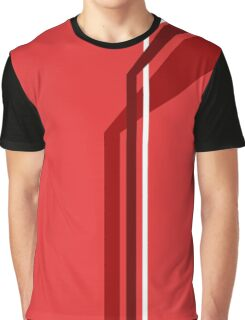 Flying Vanes - Red Graphic T-Shirt